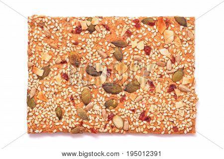 low calories hard bread snack studio isolated closeup