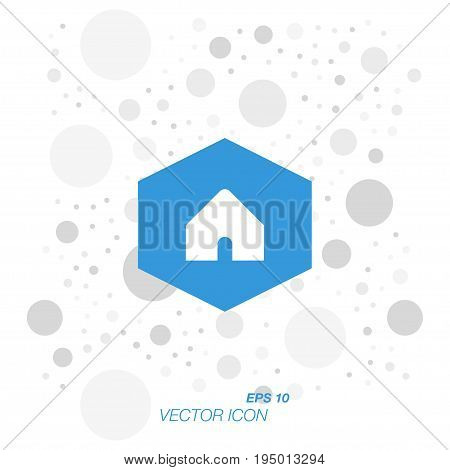 Home icon in flat style isolated on white background. Symbol for your web design and logo. Vector illustration EPS 10