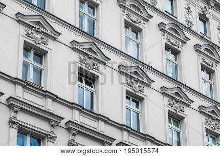 Old Residential Building Facade - Restored Facade