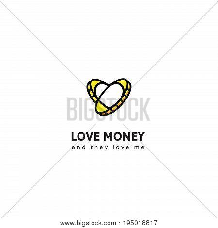 Logo money vector. Coin logo. Logo with coins for business