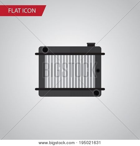 Isolated Radiator Flat Icon. Heater Vector Element Can Be Used For Radiator, Heater, Thermostat Design Concept.
