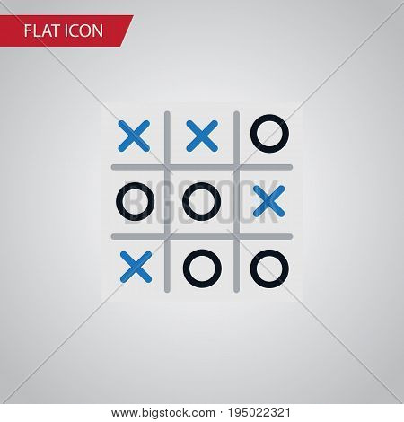 Isolated Tic-Tac-Toe Flat Icon. X-O Vector Element Can Be Used For Tic, Tac, Toe Design Concept.