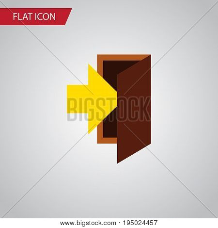 Isolated Entrance Flat Icon. Entry Vector Element Can Be Used For Entry, Entrance, Door Design Concept.