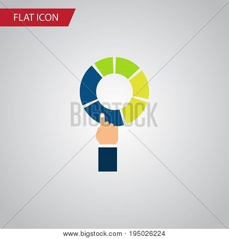 Isolated Segment Flat Icon. Pie Bar Vector Element Can Be Used For Pie, Bar, Segment Design Concept.