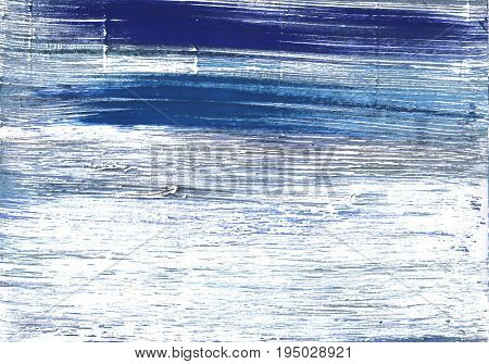 Hand-drawn abstract watercolor background. Used colors: White Indigo Ghost white Azureish white Glitter Alice blue Metallic blue Light steel blue Shadow blue