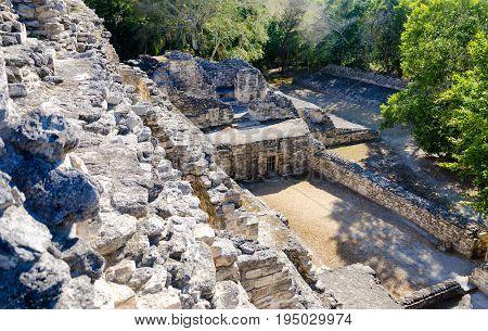 Becan Mayan Ruins in the Yucatan peninsula Mexico