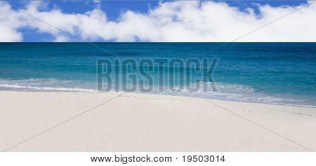 Beautiful Empty Bahamas Beach