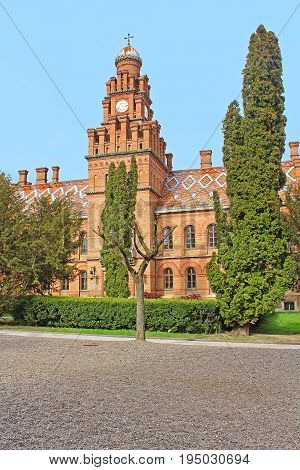 Residence of Bukovinian and Dalmatian Metropolitans now part of Chernivtsi University. Yuriy Fedkovych Chernivtsi National University. Chernovtsiб Europe