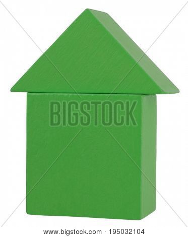 Wooden toy green house