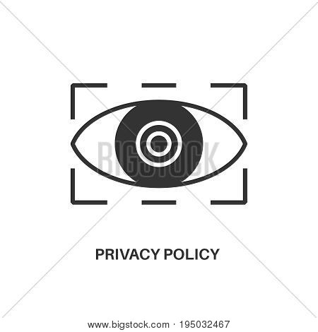 Privacy policy. Internet security information protection minimal flat icon