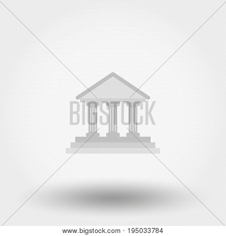 Administrative building. Icon for web and mobile application. Vector illustration isolated on a white background. Flat design style.