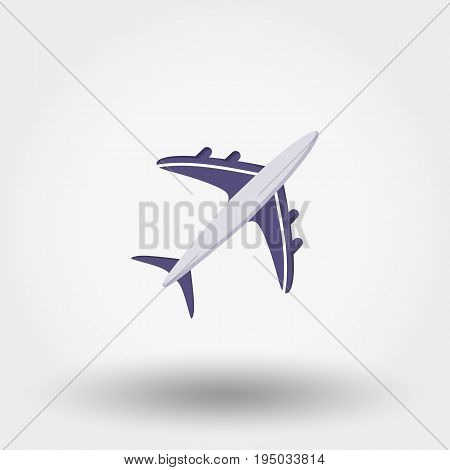 Aircraft. Icon for web and mobile application. Vector illustration on a white background. Flat design style.