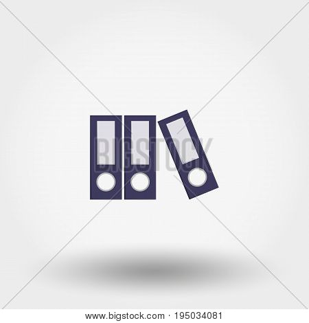 File Folder. Icon for web and mobile application. Vector illustration on a white background. Flat design style
