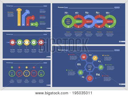 Infographic design set can be used for workflow layout, diagram, annual report, presentation, web design. Business and finance concept with process and percentage charts.