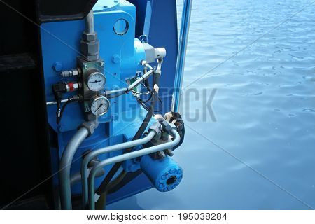 Equipment installed on modern ship