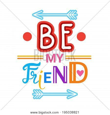 Happy Friendship Day Greeting Card Friends Holiday Banner Flat Vector Illustration