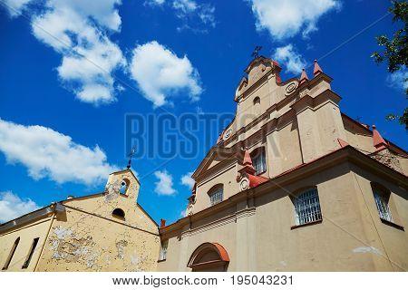 Church Of Saint Ignatius In Vilnius Old Town