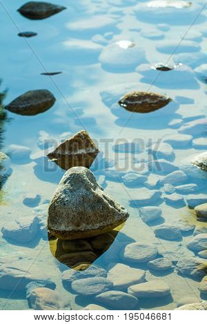 Water Stone Relax Background