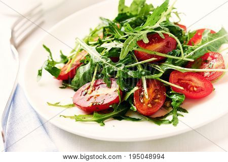 Cherry Tomato and Arugula Salad