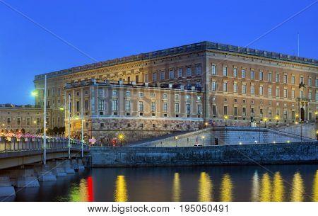 Sweden, Stockholm - Royal Palace At Dusk