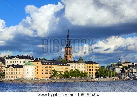 Riddarholmen, Stockholm city at summer