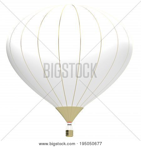 3d illustration banner with air balloon. Design for banner flyer and brochure for event promotion business or department store. Isolated on white background