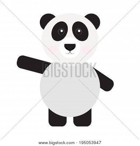 Isolated cute panda on a white background, Vector illustration
