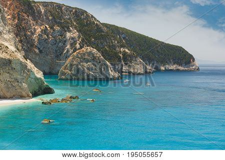 World famous Porto Katsiki beach, Lefkada Greece