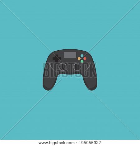 Flat Icon Joystick Element. Vector Illustration Of Flat Icon Controller Isolated On Clean Background. Can Be Used As Joystick, Controller And Game Symbols.