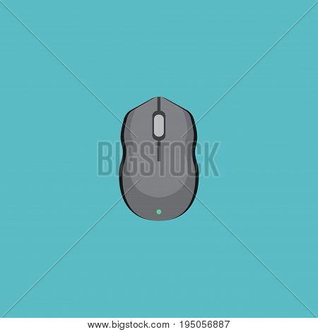 Flat Icon Control Device Element. Vector Illustration Of Flat Icon Computer Mouse Isolated On Clean Background. Can Be Used As Mouse, Computer And Control Symbols.