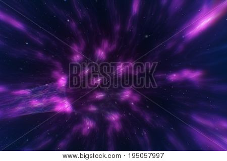 Conceptual Loopable Animation Of A Warp Tunnel In Outer Space Travelling At The Speed Of Light Spira