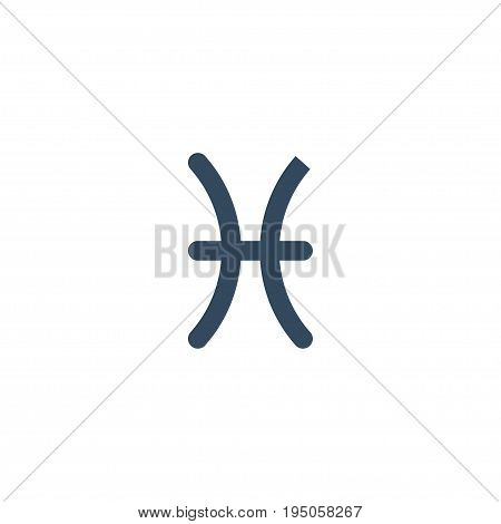 Flat Icon Pisces Element. Vector Illustration Of Flat Icon Fishes Isolated On Clean Background. Can Be Used As Pisces, Fishes And Horoscope Symbols.