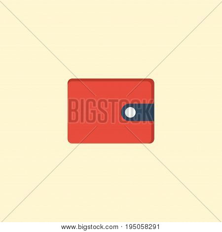 Flat Icon Wallet Element. Vector Illustration Of Flat Icon Purse  Isolated On Clean Background. Can Be Used As Purse, Wallet And Money Symbols.