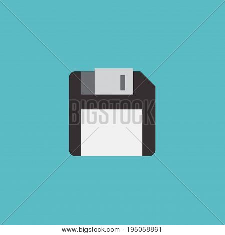 Flat Icon Floppy Disk Element. Vector Illustration Of Flat Icon Diskette Isolated On Clean Background. Can Be Used As Diskette, Floppy And Disk Symbols.