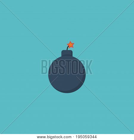 Flat Icon Bomb Element. Vector Illustration Of Flat Icon Explosive Isolated On Clean Background. Can Be Used As Explosive, Bomb And Dynamite Symbols.