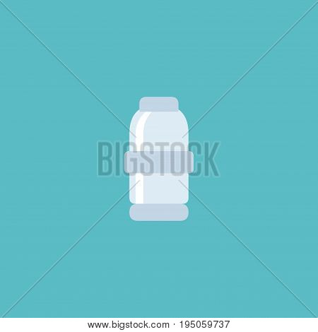 Flat Icon Salt Element. Vector Illustration Of Flat Icon Spice  Isolated On Clean Background. Can Be Used As Salt, Spice And Saltshaker Symbols.