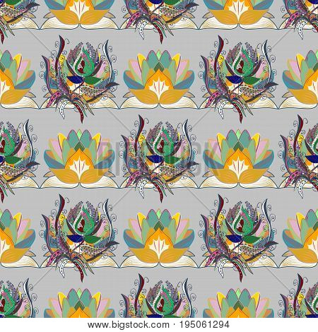 Nice Floral pattern in the small flower. Seamless floral pattern with flowers watercolor. Vector pattern.