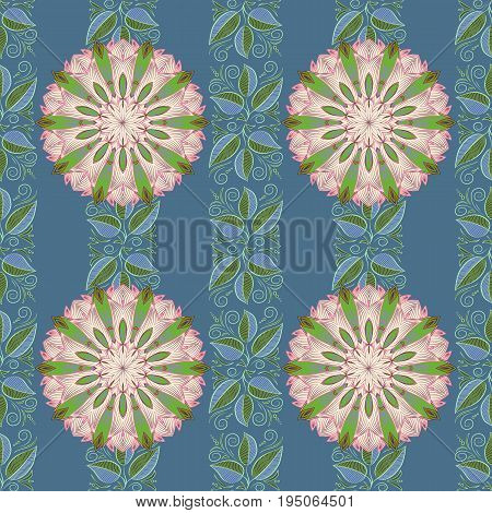 Flowers on colorful background. Cute Floral pattern in the small flower.