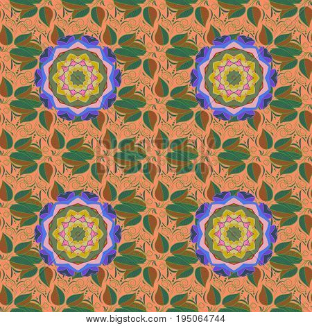 Seamless pattern with flowers. Floral watercolor seamless background. Vector textile print for bed linen jacket package design fabric and fashion concepts.