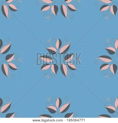 Blooming jungle. Motley vector illustration. Seamless exotic pattern with many colorfil tropical leaves.