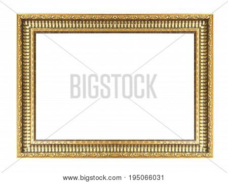 Gold Picture Frame Isolated