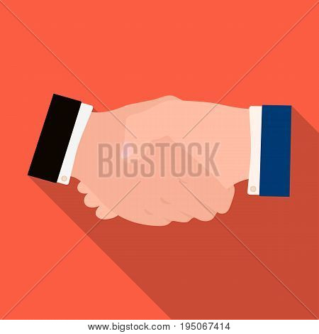 Handshake. E-commerce single icon in flat style vector symbol stock illustration .