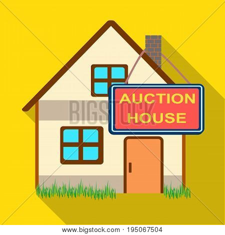 Auction house for sale. E-commerce single icon in flat style vector symbol stock illustration .