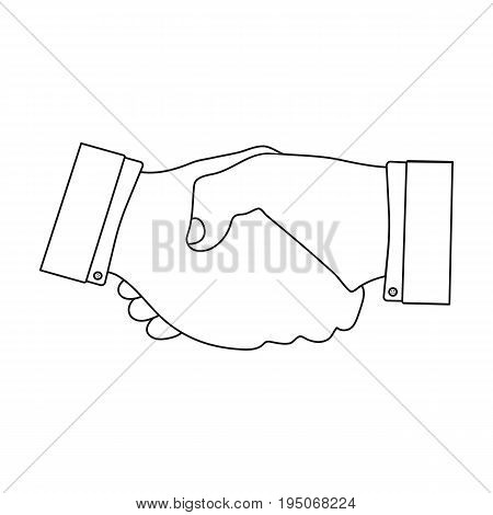 Handshake. E-commerce single icon in outline style vector symbol stock illustration .