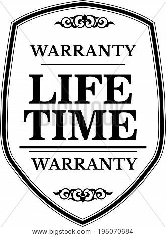 life time warranty icon vintage rubber stamp guarantee