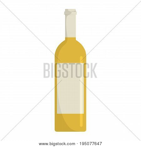 Bottle with alcoholic drinks isolated on white background. Element for bottles desing, web, infographics