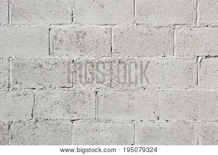 Whitewashed brick wall. Background texture.