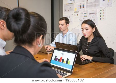 Businesspeople working together with serious emotion businesspeople working concept 20-30 year old.