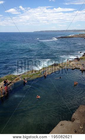 The Bogey Hole, Newcastle, Nsw Australia. Also Known As Commandant's Baths, It Was Built By Convicts