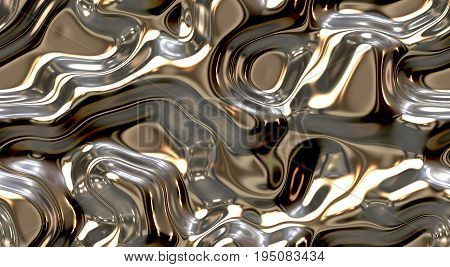 Chrome. Liquid Metal Seamless Background Texture
